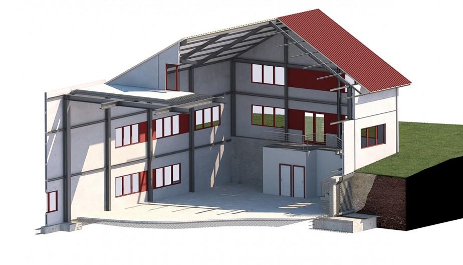 Nave Taller de Costura (Paderni) seccion constructiva general