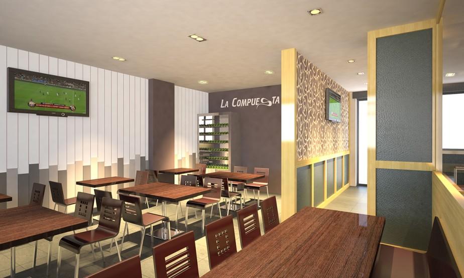 Cafetería La Compuesta / Infografía 01